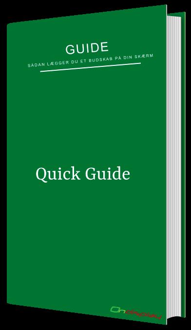 Hurtig guide til brugen af Ondisplay software